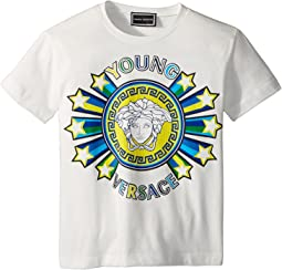 Versace Kids - Short Sleeve Medusa Logo Graphic Tee (Toddler/Little Kids)