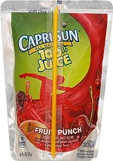 Capri Sun Fruit Punch 100% Juice Drink (6 oz Pouches, 4 Boxes of 10)