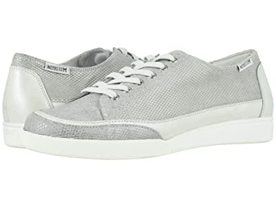 Mephisto Delya (Light Grey Comporta/Off-White Perl Calfskin) Women