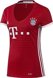 adidas 2017-2017 Bayern Munich Home Womens Football Soccer T-Shirt Jersey
