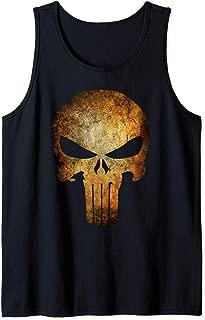 Punisher Rusted Skull Logo Tank Top