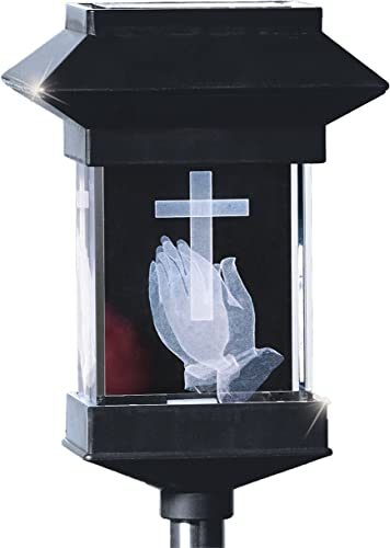 discount PPR Direct Marketing popular 10862-1 Solar Powered 3D Crystal Memorial Light Praying lowest Statue outlet sale