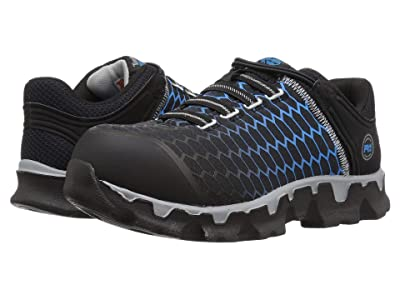 Timberland PRO Powertrain Sport Alloy Safety Toe Slip-On SD+ (Black/Blue Ripstop Nylon) Women