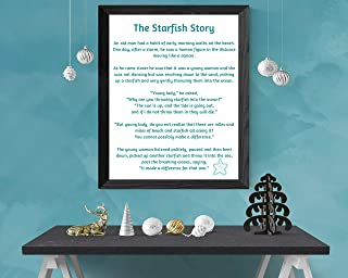 MalertaART Starfish Story Starfish Poem by Loren Eiseley Printable Sign Framed Wall Art