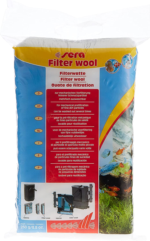 Sera - Ovatta per filtri, 250 g