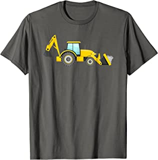 Backhoe Loader Construction Digger Truck Vehicle T-Shirt