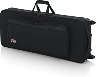 Gator Lightweight Case with Retractable Pull Handle and Wheels Fits Standard 49 Note Keyboards and Electric Pianos (GK-49)