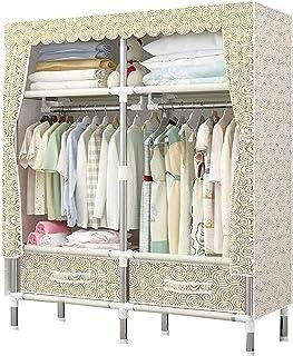 Garde-robe XINYALAMP Armoire protables Armoire Simple Armoire Organisateur Arrossement de Rangement avec Habillement de vê...