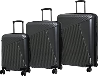 393b0183a it luggage 3 Piece Set of Metamorphic 8 Wheel Hard Shell Single Expander  Suitcases with TSA