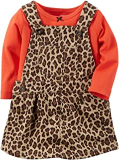 Carter's Baby Girls' 2 Piece Print Jumper Set (Baby) - Leopard - 9 Months