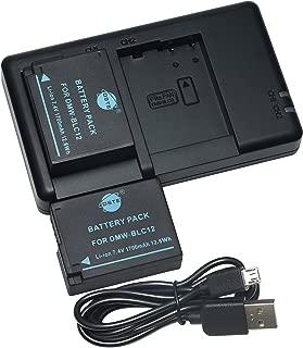 互換バッテリー DSTE DMW-BLC12 DMW-BLC12E DMW-BLC12GK DMW-BLC12PP バッテリーパック 2個 + 充電器 セットUSB 急速充電 アルファ DMC-G5 DMC-G5X DMC-G6 DMC-G6H DMC-G6X DMC-G7 DMC-G7H に対応