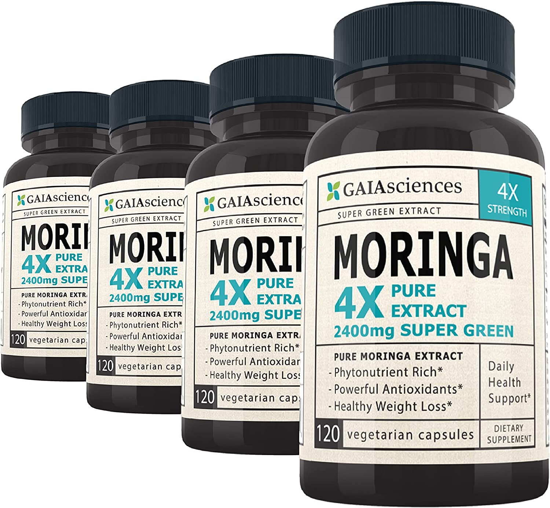 Moringa Powdered Greens Capsules: Concentrate 4X Leaf San Jose SALENEW very popular! Mall Ca