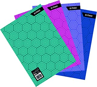 MAXI DRAWING BOOK WHITE B4 110GSM 20 SHEETS,Assorted colours