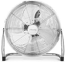 Ventilateur de sol H.Koenig JOE30 Silencieux, Design métal chromé, 40 cm, Haute vitesse, Résistant, 3 vitesses de ventilat...