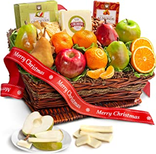 Best Merry Christmas Fruit Basket with Cheese and Nuts Review