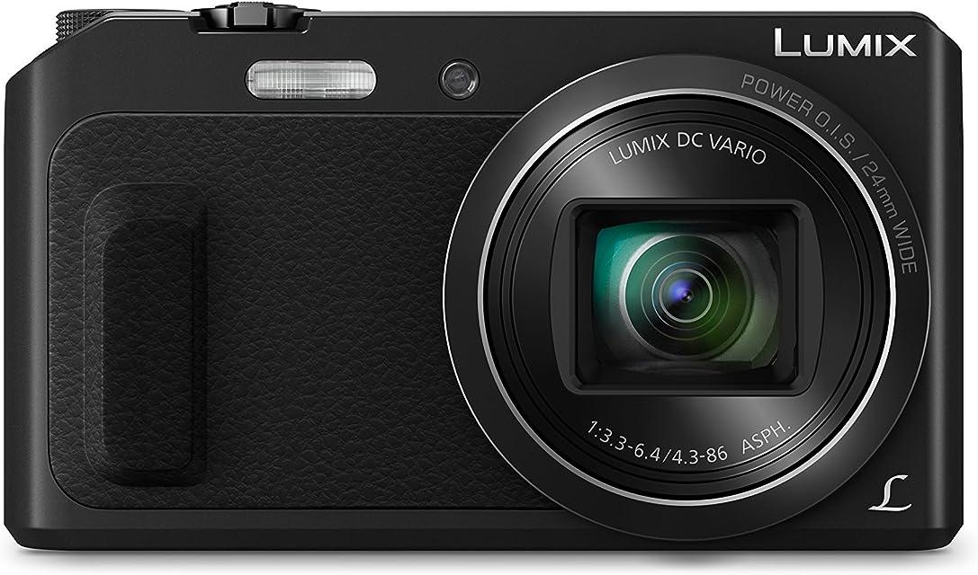 Panasonic Lumix DMC-TZ57EG - Cámara Compacta de 16.1 Mp (Super Zoom Objetivo F3.3-F6.4 de 24-480mm Zoom de 20X WiFi Pantalla Abatible) Color Negro (Versión Importada)