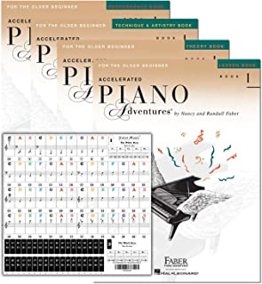 Accelerated Piano Adventures Level 1 Learning Set By Nancy Faber - Lesson, Theory, Performance, Technique & Artistry Books...