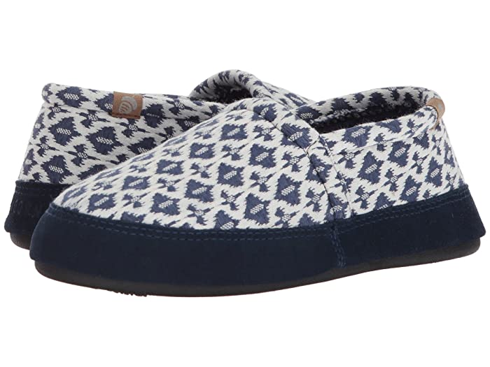 Acorn   Moc Summerweight (Navy Tribal) Womens Slippers