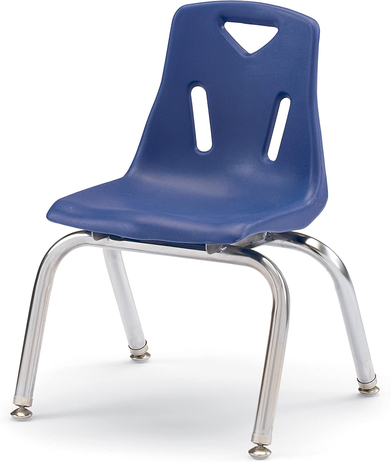 Berries 8142JC1003 Stacking Chair with Chrome-Plated Legs, 12  Height, bluee