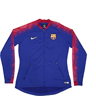 Women's Official 2018-2019 FC Barcelona Anthem Jacket 894361-669 Blue Medium