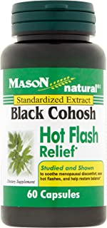 Mason Mason Natural Black Cohosh Hot Flash Relief, 60 Capsules 40 mg(Pack of 3)