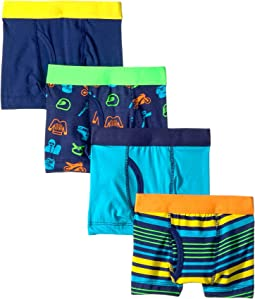 4-Pack Sports Cotton Tagless Boxer Briefs (Toddler/Little Kids/Big Kids)