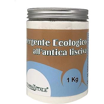 Detergente Ecologico all'Antica Lisciva – Detersivo in Polvere per Lavatrice, Bucato a Mano e Pavimenti – Ideale Anche per Piatti e Pentole - Prodotto da Laboratori Artigianali Italiani - 1000 gr