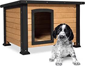 Best Choice Products Wooden Weather-Resistant Log Cabin Dog House Pet Shelter, Brown, w/Opening Roof, for Small Dogs, Outdoor or Indoor Kennel