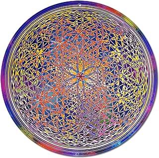 """Sun catcher"""" Fiore di chakra"""" No. 18. Ø 20cm / simbolo meditazione/immagine della finestra appendiabiti/vetro acrilico inf..."""