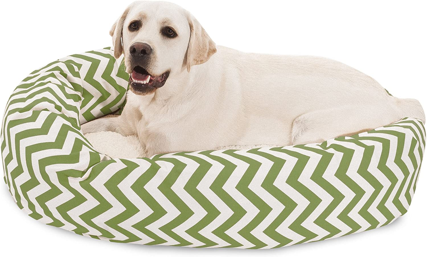 Majestic Pet Chevron Sherpa Max 62% OFF Limited Special Price Bed Bagel