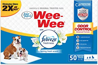 """Wee-Wee Puppy Training Pee Pads 22"""" x 23"""" Standard Size Pads with Febreze"""