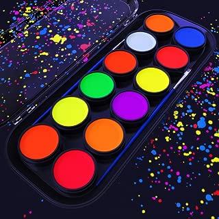 cool neon face paint ideas