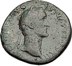 151 IT Antoninus Pius 151AD Rome Sestertius Original Anc Sestertius Good