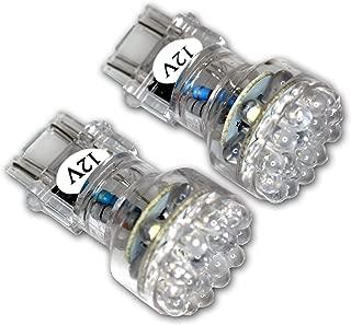 TuningPros LEDTL-3157-B24 Tail Light LED Light Bulbs 3157, 24 LED Blue 2-pc Set