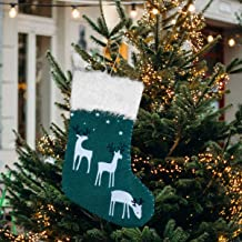 VICASKY Meias de Natal não tecidas Alce Candy Gift Pouch Christmas Tree Lareira Pendurada para Decoração de Festas de Feri...