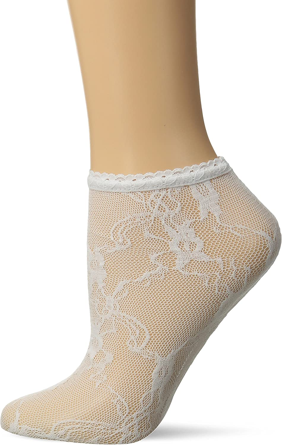 ankle chain white lace ribbon and connector