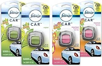 عطر و بوی تازه هوای Febreze Car Carresh، 2 Gain Original و 2 عطرهای تازه Gain Island (4 Count.06 fl oz)