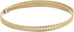 Polished Gold Braided Wrap Around Dog Collar Necklace