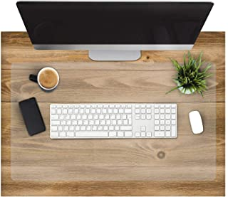 "Office Marshal Clear Desk Pad - Transparent Desk Mats on Top of Desk | Anti-Static Computer Desk Mat for Home & Office | 16"" x 35"""