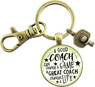 Basketball Coaching Keychain A Great Coach Changes A Life Quote Thank You  Key Ring Appreciation Gifts 1152ca926