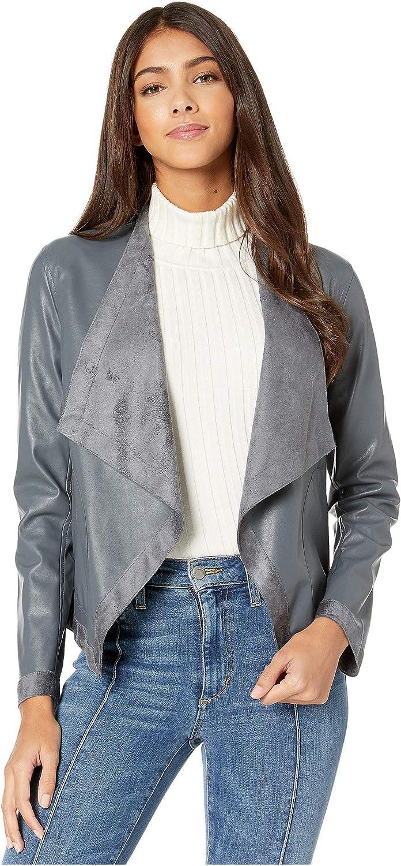 BB Dakota by Steve Madden Women's Teagan Reversible Drape Front Jacket