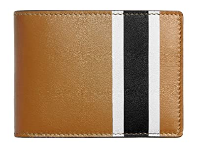Shinola Detroit Striped Slim Bifold Smooth Grain Leather (Cognac Multi) Wallet Handbags