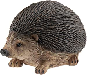 CLEVER GARDEN Hedgehog Garden Statue Outdoor Décor, Resin Figurine Decoration for Lawn, Yard, Patio, Porch, and More
