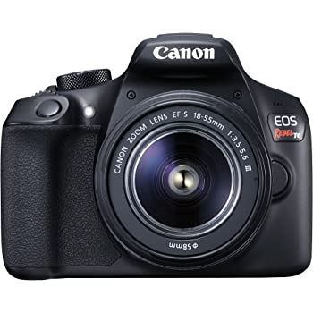 Canon EOS Rebel T6 Digital SLR Camera Kit with EF-S 18-55mm f/3.5-5.6 DC III Lens (Black)