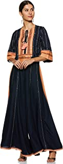 W for Woman Women's Rayon Straight Salwar Suit Set