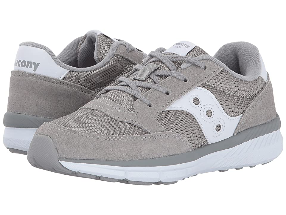 Saucony Kids Originals Jazz Lite (Little Kid/Big Kid) (Grey/White) Kids Shoes