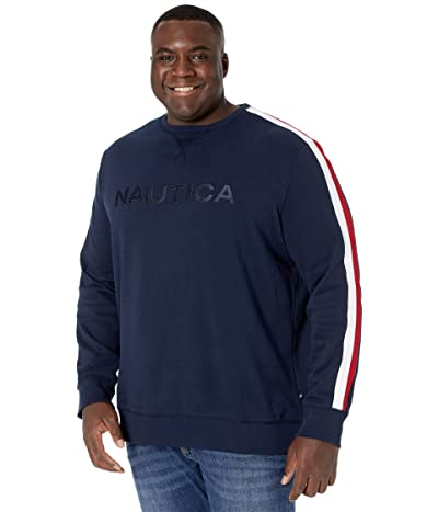 Nautica Big & Tall Big Tall Crew Neck Fleece (Navy) Men