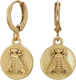 Bee Charm Museum Hoop Earrings