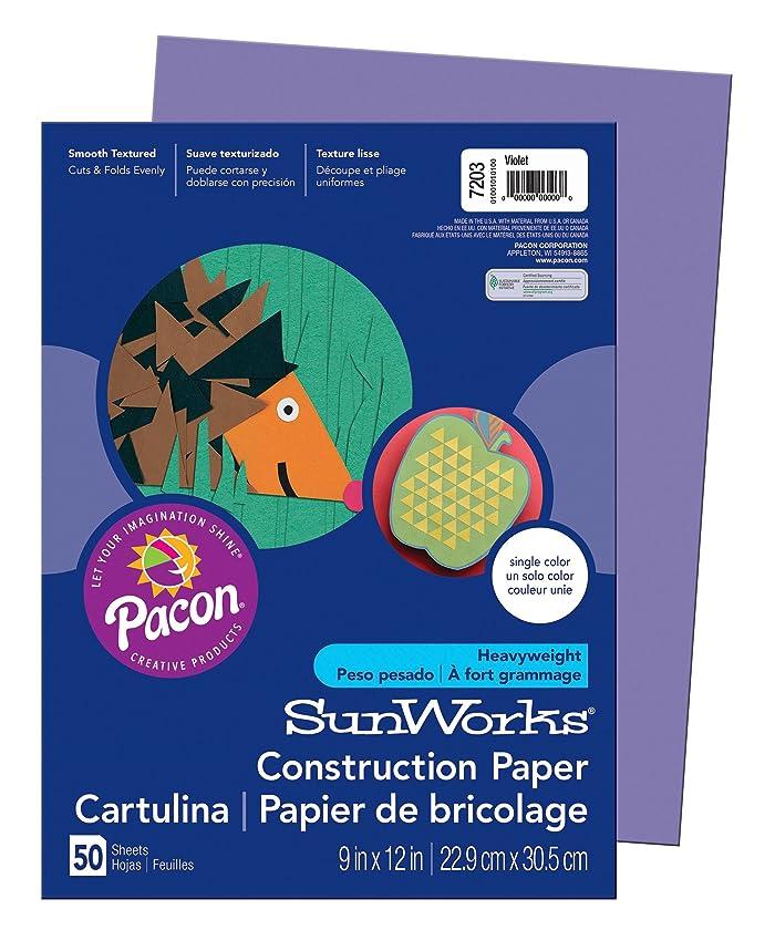SunWorks Construction Paper, Violet,  9