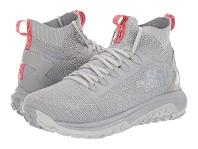 The North Face Truxel Mid (Tin Grey/Fiesta Red) Women